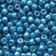 Toho 8/0 Seed Beads Permanent Finish  Galvanised Turkish Blue PF584 - 10 grams